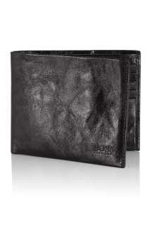 Boss Black  Black Gloss Leather Billfold Wallet by Hugo Boss Black