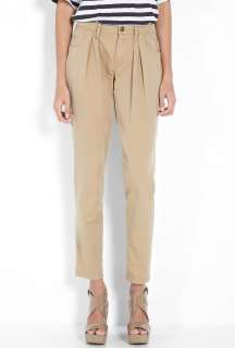 Burberry Brit  Honey Pleat Front Cotton Chino by Burberry Brit