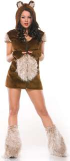 Teddy Bear Girl Adult Costume   Includes hooded dress, bootcovers