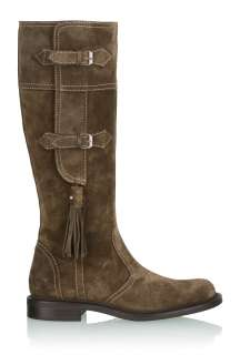 Khaki Brown Suede Knee Boot by Philosophy di Alberretti   Brown   Buy