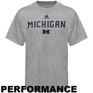Michigan Wolverines adidas Grey Anti Microbial Football