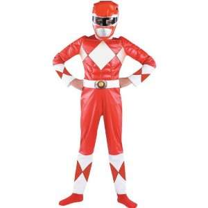 Child (7 8)  Red Power Ranger Muscle Classic Toys & Games