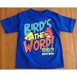 Angry Birds Birds The Word Boys T Shirt Boys,Size2T