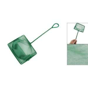 Como Aquarium Green Twisted Handle Square Fish Landing Net