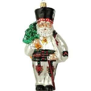 Polish Poland Santa Polish Glass Christmas Ornament