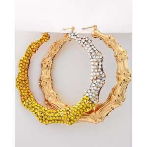 Fade2gold Basketball Wives Bamboo Hoop Earrings