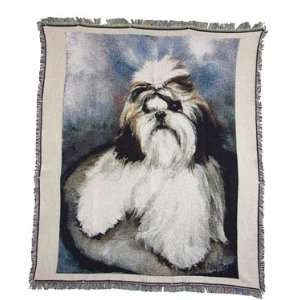 Shih Tzu Dog Puppies Throw Blanket Rug Afghan: Home & Kitchen