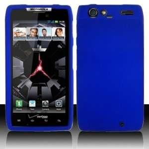 Motorola XT912 RAZR Rubberized Dr. Blue Case Cover