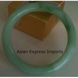 Natural Light Green Jade Bangle Bracelet