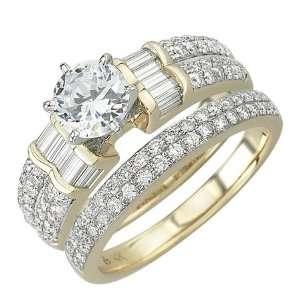 Yellow Gold Diamond Bridal Set Ring Jewelry