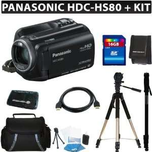 Panasonic HDC HS80K HD HDD Camcorder (Black) + 16GB Deluxe