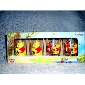 Winnie the Pooh & Friends Juice Glasses set of 4 assorted 8 oz. Juice