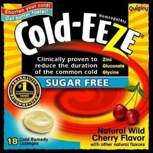 Cold   Eeze Cough Drops Wild Cherry Sugar Free Bag 18Ea