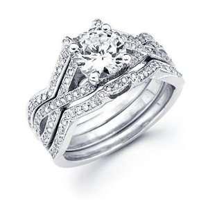 Size  4.5   1/2 ct Diamond 18k White Gold Engagement Wedding Ring Band