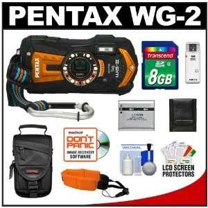 Pentax Optio WG 2 Shock & Waterproof GPS Digital Camera (Shiny Orange