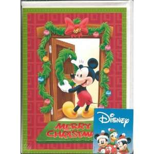 Disney Mickey Mouse Boxed Christmas Cards   Package of 10