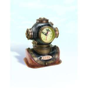 Mark V Diving Helmet Clock: Home & Kitchen