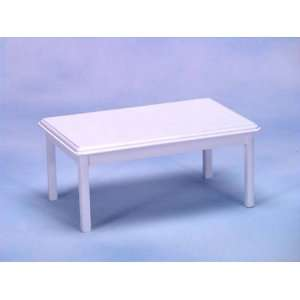 Dollhouse Miniature White Table: Everything Else