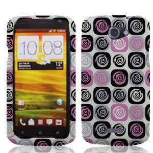 Ville White with Black Pink Silver Rose Floral Flowers Pattern Design