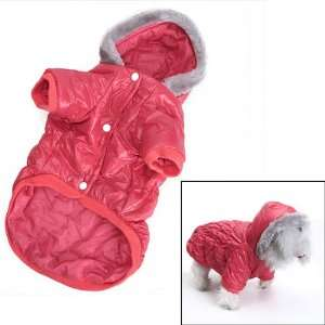 Pet Dog Hoodie Winter Puffy Coat Jacket   Size S: Pet Supplies