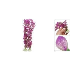 PCS Purple Plastic Plants Fish Aquarium Tank Decorate Pet Supplies