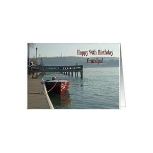 Fishing Boat Grandpa 94th Birthday Card Card