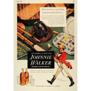 Ad Johnnie Walker Scotch Whisky Fishing Tackle Box   Original Print Ad