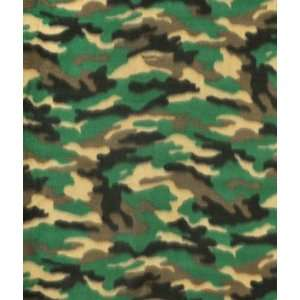 Green/Black Camouflage Fleece Fabric: Arts, Crafts & Sewing