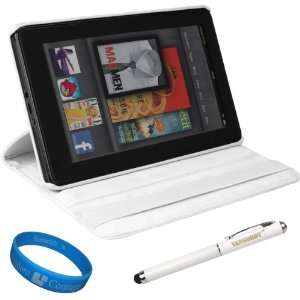 White SumacLife Executive Leather Folio Protective Carrying Case with