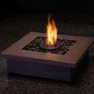 Personal Indoor/Outdoor Table Top Gel Fireplace   Rust