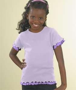 Sportswear Girls Double Ruffle T Shirt (Assorted Colors) Clothing