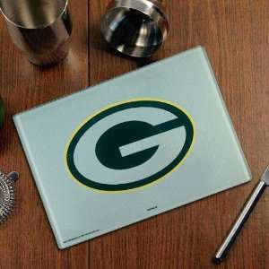 NFL Green Bay Packers Logo Glass Cutting Board: Sports & Outdoors