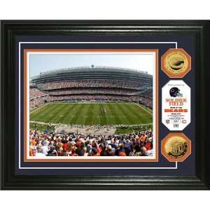 Soldier Field 24KT Gold Coin Photo Mint   NFL Photomints and Coins