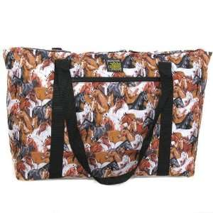 Horses and Horse Deluxe Tote Bag Case Pack 12 Sports