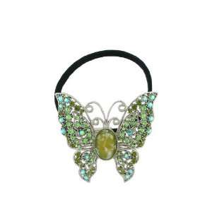 Fashion Hair Accessory ~ Butterfly Hair Band with Olive