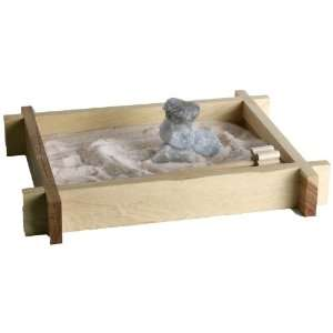 So Therapeutic Hand Made Bamboo Zen Garden with Bamboo Rake