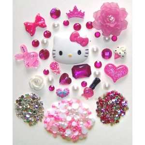 DIY Hello Kitty Bling Bling Cell Phone Case Resin Flatback