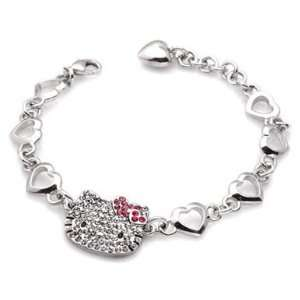 HELLO KITTY MULTI HEART CRYSTAL CHARM BRACELET Everything