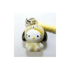 Hello Kitty in Doggie Costume Bell Straps, Charms or
