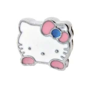 12x DIY Jewelry Making 3D Hello Kitty Slide Charm   13mm