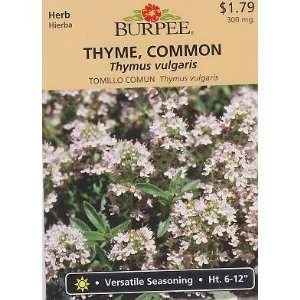 Burpee Common Thyme Herb   1500 Seeds Patio, Lawn & Garden