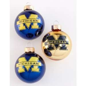 Michigan State Christmas Ornaments Set of 3