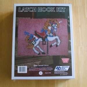 R886 Carousel Unicorn Latch Hook Kit 20 in. X 27 in. Arts