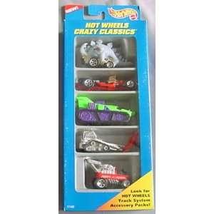Hot Wheels Crazy Classics Gift Pack 5 car Set Toys