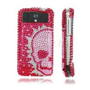 FIRE SKULL CRYSTAL DIAMOND BLING CASE FOR HTC LEGEND Electronics