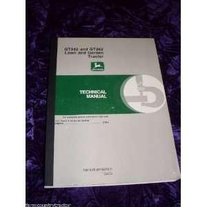 John Deere GT242 & GT262 Tractor OEM Service Manual John Deere Books
