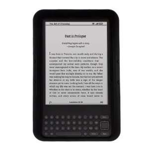 Black Silicone Skin Soft Cover Case for  Kindle 3 Electronics