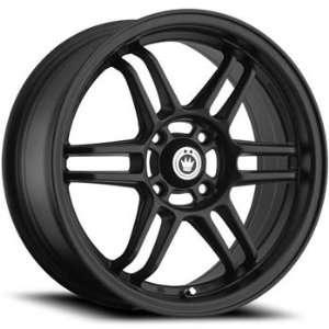 Konig Lightspeed 15x7.5 Black Wheel / Rim 4x100 with a 32mm Offset and