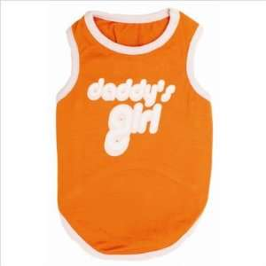 : DaddyS Girl Dog T Shirt in Orange / Pink Size: Large: Pet Supplies
