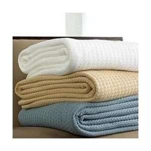 Ralph Lauren Estate Woven Blanket Queen/White